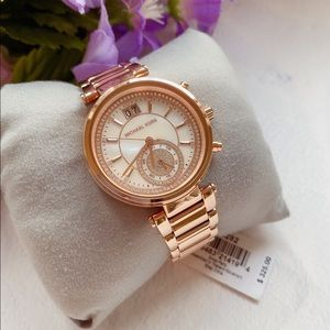 Michael Kors Sawyer Rose Gold Watch